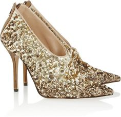 www.oscardelarenta.com, Oscar de la Renta ~ Eva Sequined Satin Pumps, bride, bridal, wedding, wedding shoes, bridal shoes, luxury shoes, haute couture