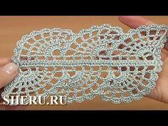 Ленточное кружево с паутинкой Урок 30 часть 1 из 2 Crochet Spider Web La...