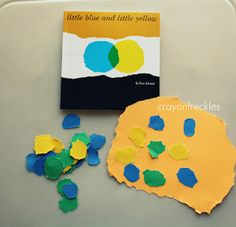 little blue and little yellow book activities #crayonfreckles