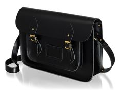 """The 14"""" Saddle Leather Satchel in Black www.cambridgesatchel.com/buy/saddle-leather-satchel/ www.cambridgesatchel.com/us/buy/saddle-leather-satchel/"""