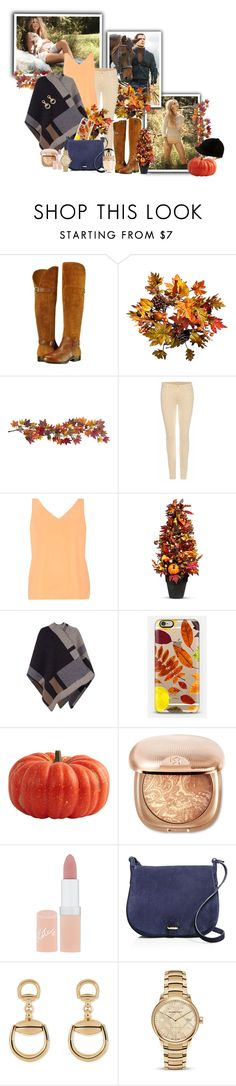 """""""Fall First Date."""" by barefootdancer ❤ liked on Polyvore featuring Naturalizer, Improvements, Nearly Natural, 7 For All Mankind, Dorothy Perkins, Burberry, Casetify, Rimmel, Céline Lefébure and Gucci"""