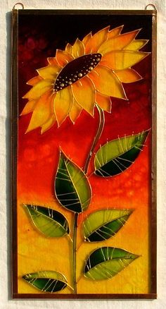 Great idea for a stained glass mosaic Glass Painting Patterns, Stained Glass Patterns Free, Glass Painting Designs, Stained Glass Designs, Stained Glass Paint, Stained Glass Flowers, Stained Glass Panels, Stained Glass Projects, Mosaic Art