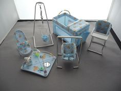 1/12th scale 6 piece nursery set , choice of designs. £90.00, via Etsy.