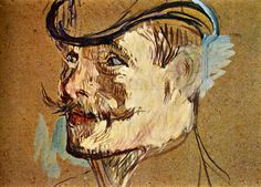 Henri de Toulouse-Lautrec (French 1864–1901) [Post-Impressionism] Portrait Of William Warrener.