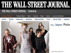 The wall streat jurnal USA  january 2010 Couture by on aura tout vu Paris Haute Couture Fashion Week