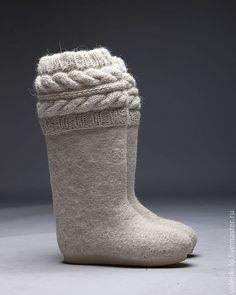 Women/'s Felt Slippers Open Toe Made in Russia 100/% Sheep Wool Russian Barbie