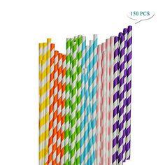 Möbel & Wohnen Trinkhalm Aus Papier 100 Stück Rot Weiß Strohhalme Papierstrohhalme Nachhaltig Kochen & Genießen