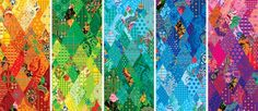 The Olympic patchwork quilt | Sochi 2014. The motifs in these swatches will appear on the Russian team's official uniforms, flags and banners around the games, and occasionally fill in the characters of the logo. The design here, contributed by the sponsor BOSCO Sports, is based on traditional quilting patterns and, in particular, a form of Russian design called Khokhloma.