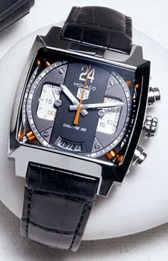 Steel Monaco 24 chronograph by TAG Heuer