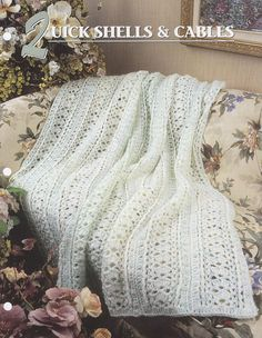 Quick Shells & Cables Annie's Attic Crochet Quilt and
