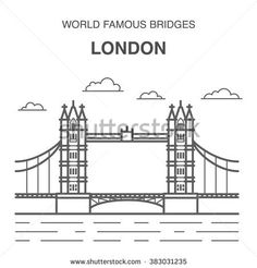Find Tower Bridge Illustration Line Art Famous stock images in HD and millions of other royalty-free stock photos, illustrations and vectors in the Shutterstock collection. London Sketch, Famous Bridges, Tower Bridge London, London Landmarks, London Art, Designer Wallpaper, Line Art, Royalty Free Stock Photos, Illustration