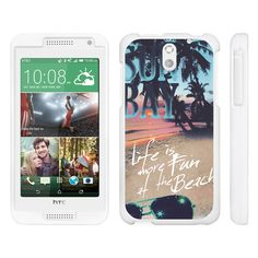 HTC Desire 610 Case SNAP SHELL White 3 IN 1- Slim Hard Fitted Case - Life at the Beach