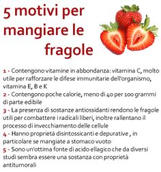 5 motivi per mangiare le fragole Wellness Fitness, Wellness Tips, Health Fitness, Raw Food Recipes, Diet Recipes, Healthy Recipes, Healthy Life, Healthy Living, Diet Diary