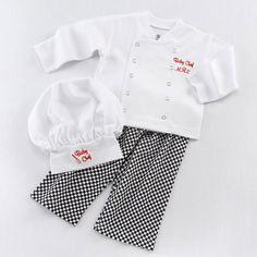 Trajes engraçados Do Bebê Meninos Roupas Definir Cozinheiro chefe Do Bebê  Festa de Natal Cosplay Fotos Recém nascidos Adereços Shirt + Calças Da  Criança ... 8affc73c56b