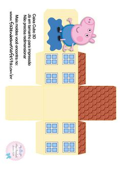 Bolo Da Peppa Pig, Cumple Peppa Pig, Cumple George Pig, Birthday Party Decorations, Party Themes, George Pig Party, Peppa Pig House, Papa Pig, Paper Dolls