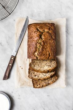 Not all banana breads are created equal. Banana bread should taste like bananas and going heavy on the fruit makes for an incredibly moist bread.