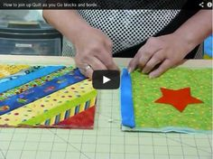 How to Join Up Quilt-As-You-Go Blocks and Borders