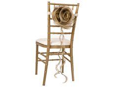 Gold Magnolia - Ivory Band Chair Backs & Jackets