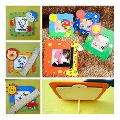 Cartoon Mini Photo Frame Novelty Kids Toys School Office Gifts Cute Stationery 0.69