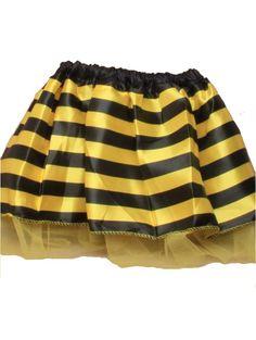 Girls Bumble Bee Satin TuTu with Yellow Net Underlayer