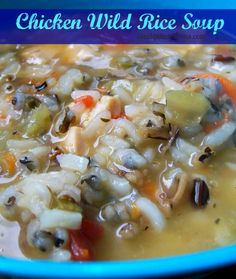 Crock Pot Chicken Wild Rice Soup Recipe ~ full of such great taste and an earthy blend of spices... delicious, perfect for Fall and cooler weather!