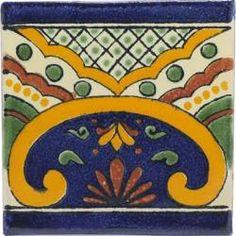 Puebla - Ceramic Handcrafted Tile Mexican Border