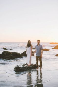 Sunset Engagement at El Matador State Beach | Anna Delores Photography