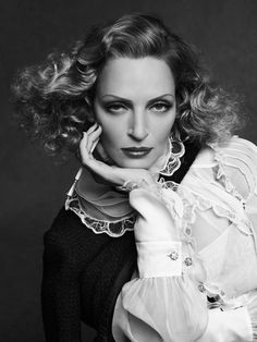 Uma Thurman  - Chanel - The Little Black Jacket