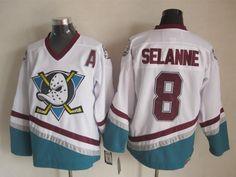 d5665f9d6 Number 8 Teemu Selanne Jerseys Anaheim Mighty Ducks white t shirts
