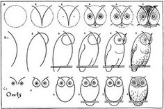 Draw an owl by MyOwlBarn, via Flickr. Looks like this is from What to Draw and How to Draw It by Edwin Lutz (1913).