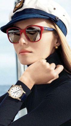 Nautical Look: Ralph Lauren eyewear ad campaign advertisement summer 2014 Ray Ban Sunglasses, Sunglasses Women, Summer Sunglasses, Sunglasses Outlet, Sports Sunglasses, Celebrity Sunglasses, Eyewear Trends, Bcbg, Look Girl