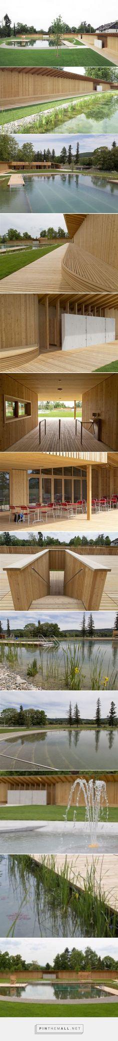herzog & de meuron creates natural bathing pond for naturbad riehen - created via http://pinthemall.net