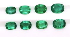 4 73 Ct Fine Natural Emerald Cushion Pair for Earrings Ring Pendents Auction   eBay