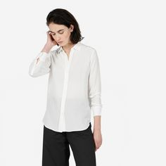 The Relaxed Silk Shirt - White by Everlane