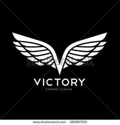 Victory Logo,Wing logo,V letter logo,eagle logo,vector logo template