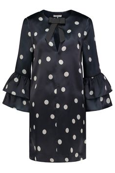 Ganni Dress Seneca Silk Total Eclipse - F2253 1677 707