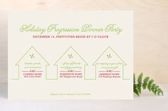 Progressive Dinner Party Holiday Party Invitations... | Minted