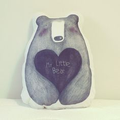Cojín Osito My Little Bear por dibucos en Etsy