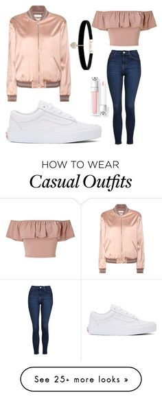 """Casual Rose Gold"" by ishipromione on Polyvore featuring Topshop, Vans, Miss Selfridge, Yves Saint Laurent and Betsey Johnson"