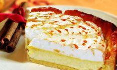 Воздушный торт-суфле створожной начинкой