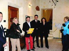 Da sinistra: Rosanna Ossola, Fabio Fornaciai, Maurizio Vanni, Galleria Tornabuoni, Pietrasanta 2001
