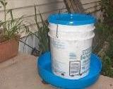this Site has several ideas for homemade chicken Feeders and waterers.