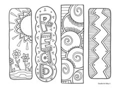 Bookmarks – free printable from Classroom Doodles. Make your world more colorful with free printable coloring pages from italks. Our free coloring pages for adults and kids. Colouring Pages, Adult Coloring Pages, Coloring Sheets, Free Coloring, Coloring Books, Coloring Letters, Free Printable Bookmarks, Bookmark Template, Diy Bookmarks