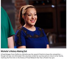 Michelle Karam was the seventh finalist to go home on Food Network Star, Season Relive the memorable moments from her time on the show. Food Network Star, Food Network Recipes, Food Wishes, Star Wars, Carnitas, First Time, A Food, How To Memorize Things, Stars