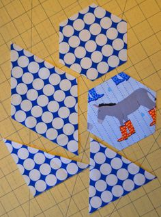 This tutorial will show you how to cut five simple shapes using three tools we sometimes take for granted as quilters – the rotary cutter, ruler and cutting mat. The shapes that we'll make are: Square, Right Triangle (aka Half Square Triangle or HST), Equilateral Triangle, Diamond, and Hexagon.  #quilting #cutting_tips #cutting_tricks
