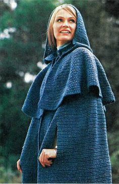 Over 100 Free Vintage Crocheted Poncho, Cape & Shawl Patterns Crochet Jacket, Crochet Cardigan, Crochet Scarves, Crochet Yarn, Crochet Clothes, Crochet Pattern Central, Crochet Cape Pattern, Crochet Patterns, Free Pattern