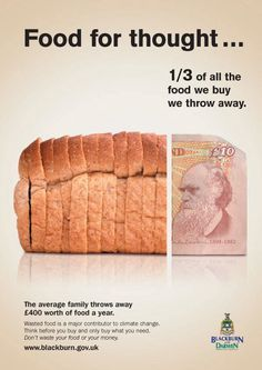 food waste campaign Another food waste fact Waste Art, World Hunger, Food Insecurity, Get Thin, Food System, Food Trends, Junk Food, Food For Thought, Hot Dog Buns