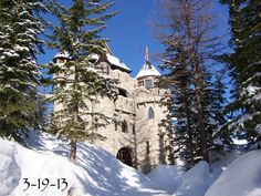 Solid stone castle for sale located on Schweitzer Mountain where you can ski in & out to the chairlifts in the winter from the castle and boat/swim on Lake Pend Oreille in the summer. Year round access with paved roads. Ten miles from town, lake, and airport. Size 5,000 sq ft. castle and 1/2 acre of land