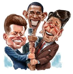 Presidential Caricatures 'Not many reasons to smile in today's world.