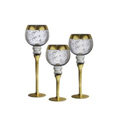Crystal Clear Bentley Rim Silver Candle Holders